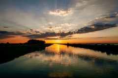 tramonto sul Brenta